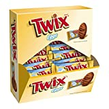 TWIX Easter Caramel Singles Size Chocolate Cookie Bar Candy Eggs 1.06-Ounce Bar 24-Count Pack