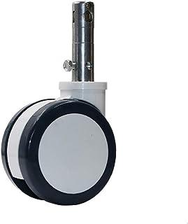 CHENZHANMAOYI 6 Inch Medical bedwielen Plunge Double Disc Wiel met centrale vergrendeling Precision Instrument Mute Kogelz...