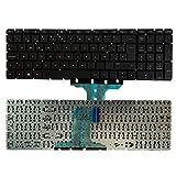 YUHUAI Reemplazo de Laptop Teclado Adecuado para HP Pavilion TPN-C125 TPN-C126 15-AC 15-AF 15-AY 15-BA 17-X 17-Y Diseño Español