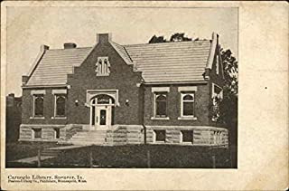 Carnegie Library Spencer, Iowa Original Vintage Postcard