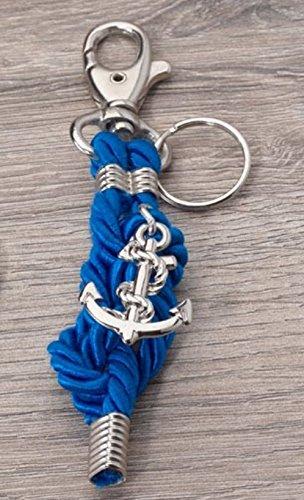 Portachiavi con ancora e nodo marinaio BOMBONIERA