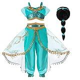 Hamanasu Costume de la Princesse Jasmine pour Les Filles Déguisement de Princesse pour la...
