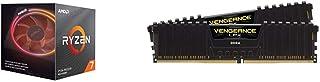 AMD Ryzen 7 3800x 4,5GHz AM4  36MB Cache Wraith Prism + Corsair Vengeance LPX 16GB DDR4 3200MHz C16 XMP 2.0 High Performance Desktop Arbeitsspeicher Kit schwarz + Corsair MP600, Force Series