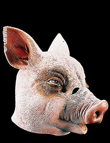 Masque de cochon - Adulte - Taille Unique - Halloween - Latex - 1089