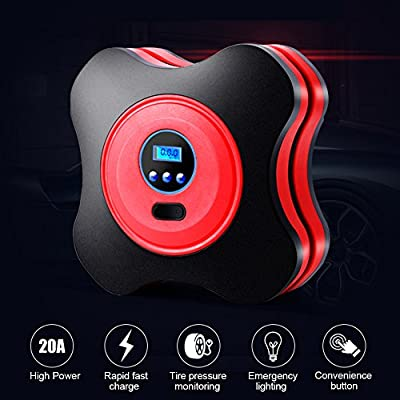 Portable Tire Inflator, Bodecin Car Tyre Air Pump Tyre pump Portable Air Compressor Pump with Digital Display for Cars, Trucks, Bicycles or RVs, Automatic and Basketballs