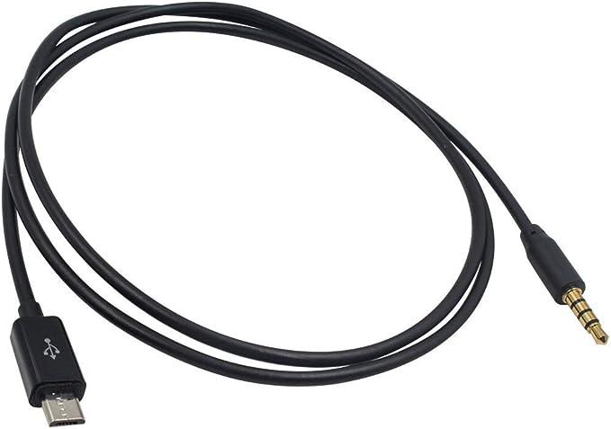 Duttek 3 5 Mm Auf Micro Usb Audio Kabel 4 Pole 3 5 Mm Stecker Auf