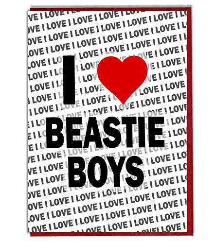 I Love Beastie Jongens wenskaart - Verjaardagskaart - Dames - Heren - Dochter - Zoon - Vriend - Echtgenoot - Vrouw - Broer - Zuster