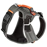 GOOBY 04713-GRY-S New Pioneer Dog Harness with Traffic Handle & Dual Leash Ring, Gray, Small