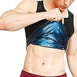 Hombres/Mujeres Neopreno Sudor Sauna Chaleco Body Shapers Chaleco Entrenador De Cintura Chaleco para Pérdida De Peso con Quema Grasa DeportivoMale-S/M