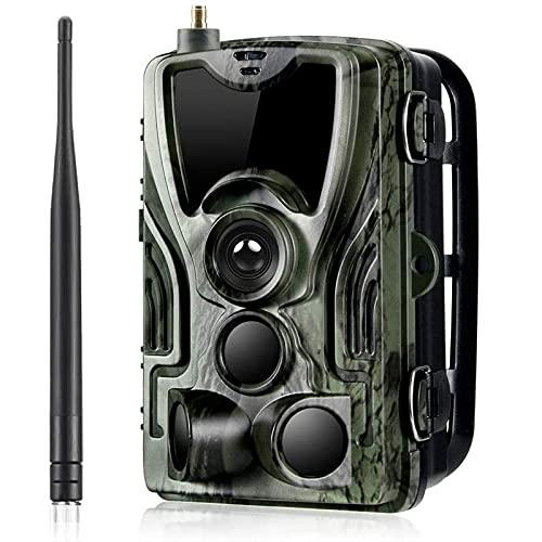 Amacthysh 2G Wildkamera Fotofalle 16MP 1080P, IP65 wasserdichte Jagdkamera mit bewegungsmelder 36 Pcs Low-Glow 940nm Infrarot-LEDs, Infrarot-Nachtsicht 20m, Handy übertragung,A