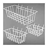3PC Pegboard Basket, Pegboard Basket Set for...