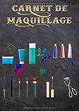 Carnet de Maquillage: Cartes de maquillage pour peindre le visage directement sur du papier avec un maquillage...