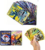 zhybac 100 Pokemon Card,Tarjetas de Pokemon,100 Piezas Pokemon Cartas, Pokemon Trading Cards, Juego de Cartas, Cartas...
