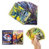 zhybac 100 Pokemon Card,Tarjetas de Pokemon,100 Piezas Pokemon Cartas, Pokemon Trading Cards, Juego de Cartas, Cartas Coleccionables,Trainer Cartas, Cartas Pokémon Game Battle Card, Regalos para niños