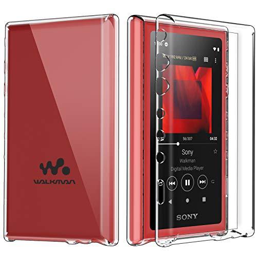 ソニー SONY ウォークマン NW-A100 シリーズ専用 ケース 【ELMK】クリスタル クリア 透明 TPU素材 保護カバー SONY walkman W-A100TPS / NW-A105 / NW-A105HN / NW-A106 / NW-A107 対応