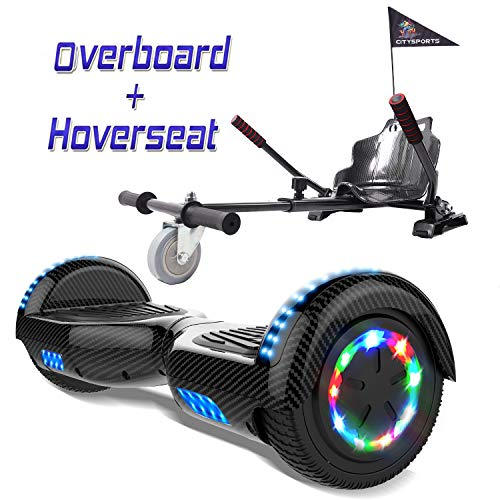 COLORWAY 6,5 Zoll Hover Scooter Board Elektro Scooter Smart Scooter Self Balance Board - Bluetooth - LED Räder - 350W*2 Motor mit Hoverkart