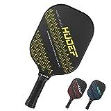 HUDEF Pickleball Paddle-Composite Fiber Face Pickleball Racquet Lightweight PP Honeycomb Core Balanced Pickleball