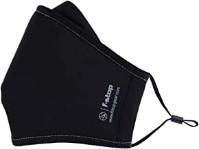 Dyota Face Mask - Reusable, Washable, Breathable Protective 3-Layer Premium Cloth Cover (Black, Adult Size, Ages 12+)