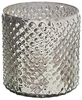 Serene Spaces Living Antique Silver Hobnail Vase, Medium - Beautiful Mercury Glass in a Vase, 5