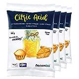 NortemBio Ácido Cítrico 2 Kg (4x500g). La Mejor Calidad Alimentaria. Insumo Ecológico. Polvo, 100% Puro. E-Book Incluido.