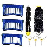 Busirde Remplacement pour iRobot 600/610/620/625/630/650/660 Cleaner Filtre Rouleau à Brosse latérale Brosse de...