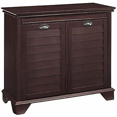 Crosley Furniture Lydia Two-Compartment Linen Hamper - Espresso