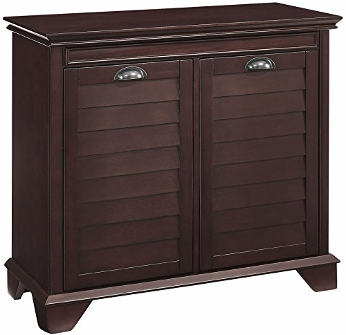 Crosley Furniture Lydia Two-Compartment Tilt-Out Linen Hamper, Espresso