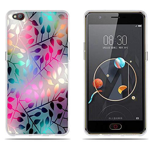 DIKAS ZTE Nubia M2 Lite Handyhülle, 3D Mode Muster Transparente Silikon Clear TPU Fashion Kreative Matte TPU Soft Gummi Silikon Abdeckung Telefon Fall für ZTE Nubia M2 Lite 5.5