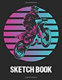 Sketch Book: Retro Dirt Bike Sketch Book Drawing Pad For Boys, Kids,...