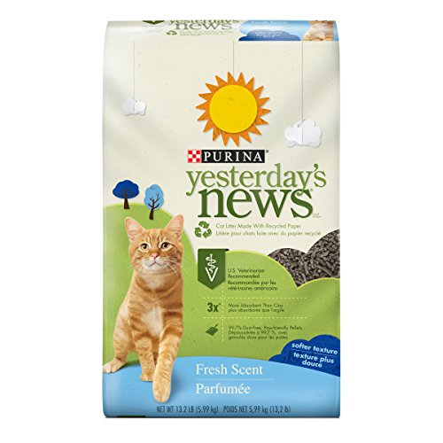 Purina Yesterday's News Fresh Scent Non-Clumping Cat Litter - (1) 13.2 lb. Bag