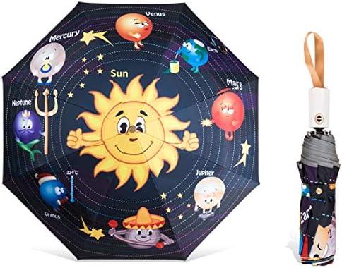 AloveTree Child Folding Umbrella Automatic Open Cartoon UV Protection Travel Umbrella Compact product image