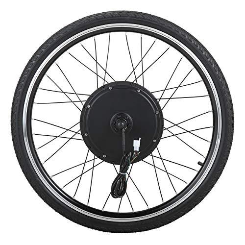 JAXPETY 26' E Bike Front Wheel 36V 500W Electric Bicycle Cycle Ebike Hub Motor Conversion Kit Hub Motor Wheel
