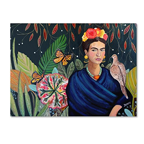 Frida by Sylvie Demers, 18x24-Inch Canvas Wall Art