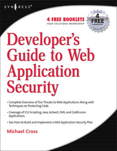 Developer\'s Guide to Web Application Security: A Guide for Developers and Penetration Testers