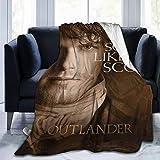 Tree New Outlander Sam Heughan Talks Scars Fleece Blanket Soft Micro Microfiber Light Weight Warm Throw Blanket 3 Size (Black, 40'x50')