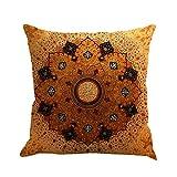 Böhmen Fundas de almohada en algodón y lino con patrones geométricos, decoración para sofá, coche, terraza, juego de 4 unidades, metal, b, talla única