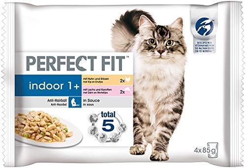Perfect Fit kattenvoer natte voering Indoor Adult 1+ selectie in saus, 52 portiezak (13 x 4 x 85g)