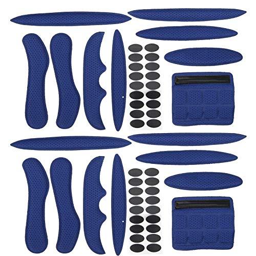 zhoul Kit de Acolchado para Casco SK-202, Almohadillas universales de Espuma para Casco de Bicicleta, Forro de Casco de Bicicleta eléctrico anticolisión, Gancho y Lazo de Esponja