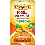 Emergen-C Chewable Vitamin C 1000mg, With B Vitamins And Antioxidants Tablet (40 Count, Orange Blast Flavor), Dietary Supplement