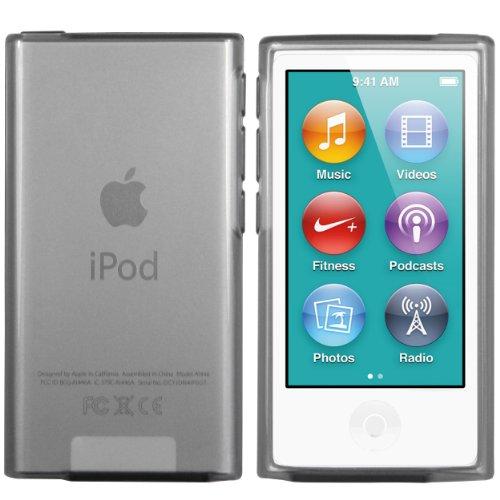 mumbi Hülle kompatibel mit iPod Nano 7G 2012 Handy Case Handyhülle, transparent schwarz