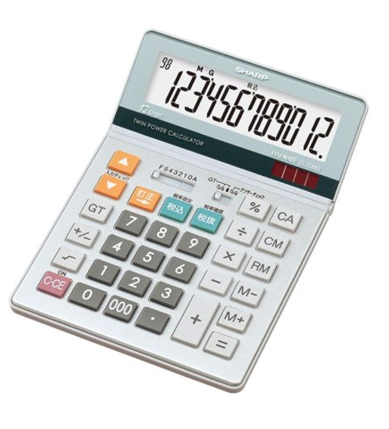 に応じて送る規模シャープ[SHARP] グラストップ調デザイン電卓(セミデスクタイプ) 【EL-S882-X】