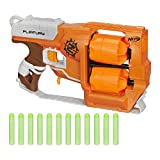 Nerf Zombie Strike FlipFury Toy Blaster with 2 Flipping Drums and 12 Official