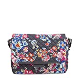 Vera Bradley Signature Cotton Shoulder Satchel Purse, Pretty Posies
