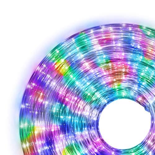 Nipach GmbH 20m 480 LED Lichterschlauch Lichtschlauch bunt – Innen- und Außenbereich – energiesparende Leucht-Dekoration für Garten Fest Weihnachten Hochzeit Gesamtlänge ca. 21,50 m