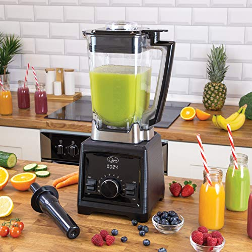 Quest High 35199 Heavy Duty Professional Power Blender with 2 Litre Jug, 9 Speed Settings and Turbo Pulse, Black/Silver…