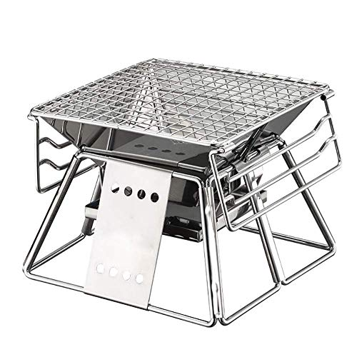 Best Prices! Zjnhl Family Gathering/Small Barbecue Folding Grill Stainless Steel Outdoor Charcoal Sm...