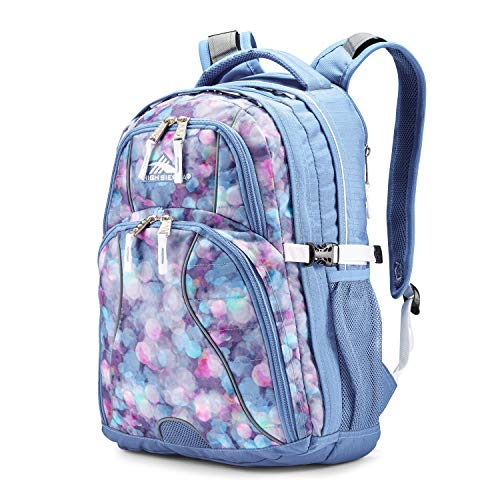 High Sierra Swerve Laptop Backpack, Shine Blue/Lapis/White, 19 x 13 x 7.75-Inch