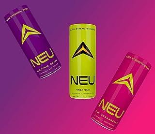 NEU Extra Strength Energy Shots, Pre Workout Energy Drinks Nootropics Brain Support Supplement, Zero Carb, Zero Calorie, Z...