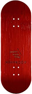 NOAHWOOD X Fingerbird PRO 6-Layer Bamboo Handmade Fingerboards Deck (King of Skate Red, 100x33mm Deck)