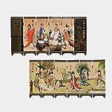 UUMFP Pintura China Antigua biombos de Escritorio Decoración Adornos Laca Mini divisores del Panel Artes Regalos de colección